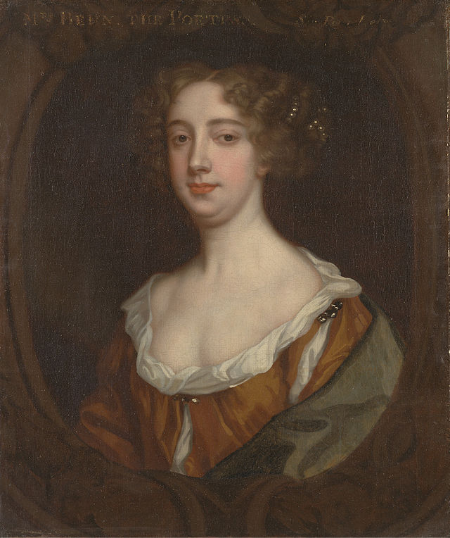 Aphra Behn by Peter Lely 1670