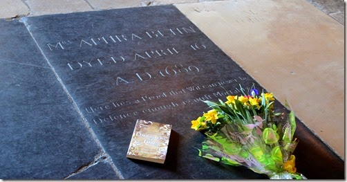 Flowers at Aphra Behn's Tomb