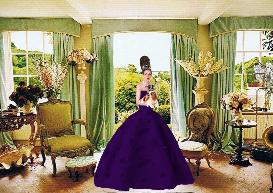 Tyne O'Connell Dandizette Mayfair in Purple Ballgown