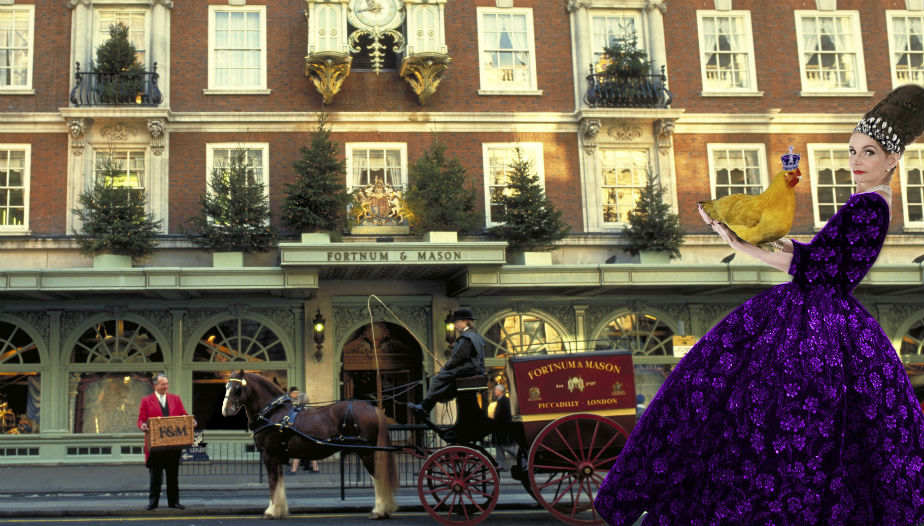 Tyne O'Connell Fortnum & Mason Mayfair purple dress