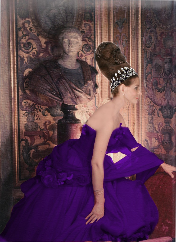 Tyne O'Connell Mayfair in Purple Ballgown