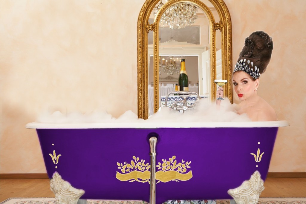 Tyne O'Connell in the Bath in Mayfair