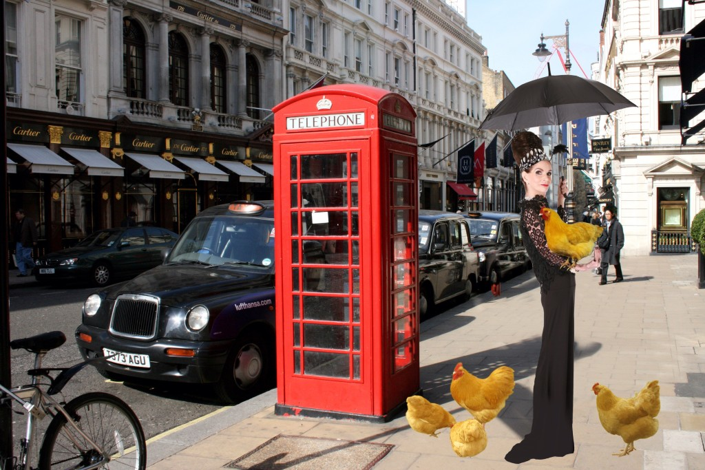 Tyne O'Connell on Bond St with Hen