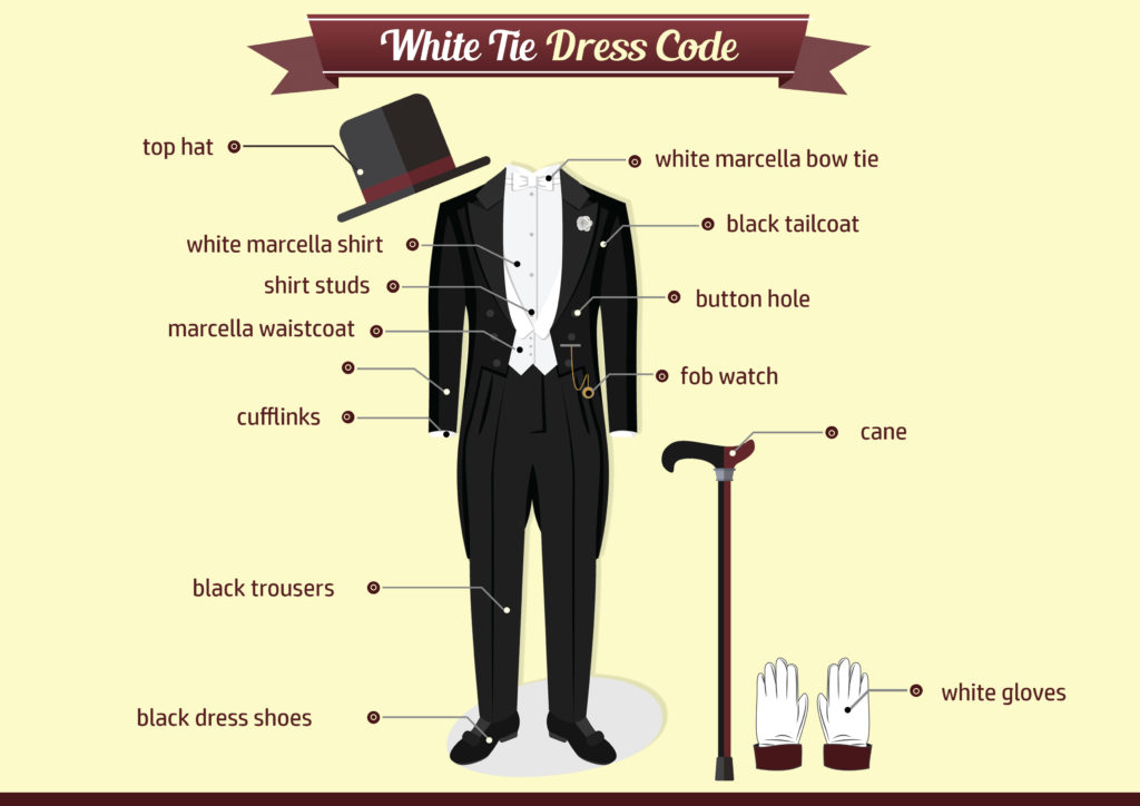 White tie dress code for the mayfair eccentric