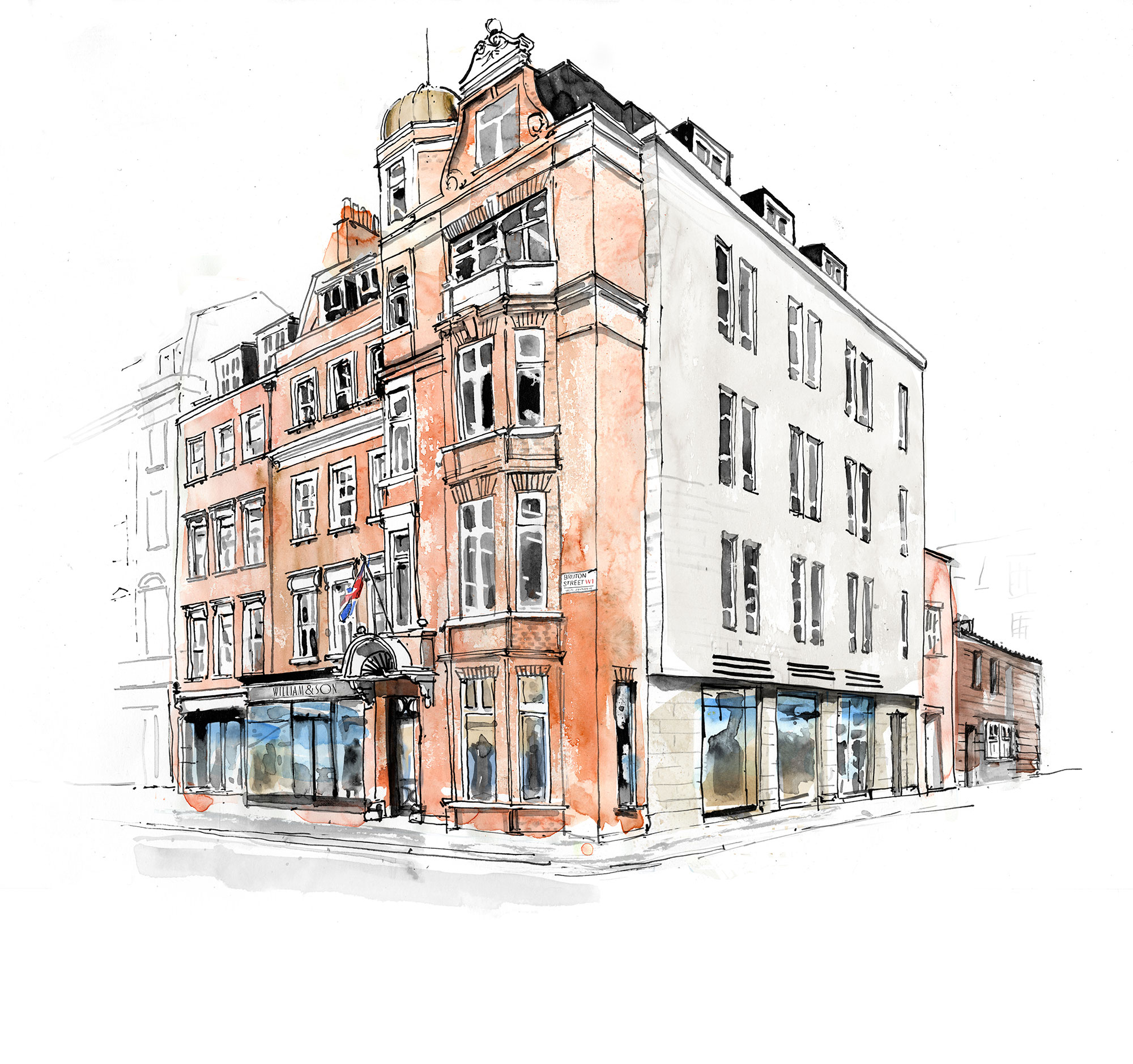 William and son Bruton-Street-Illustration